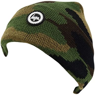839d8832e3f HYPE Multi Camouflage Winter Beanie Winter Headwear - Forest Camo   Amazon.co.uk  Clothing