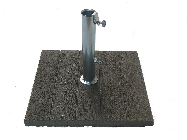 Maffei Art 304 Base cemento per ombrelloni con effetto legno sulla parte superiore. Peso kg. 20. Made in Italy