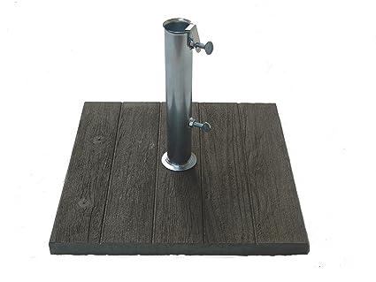 Maffei art base cemento per ombrelloni con effetto legno sulla