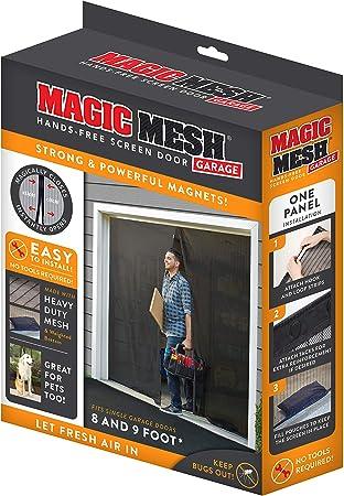 Magnetic Garage Screen Door for Double Garage Doors 16x7FT Reinforced Fiberglass Door Screen Curtain for Garage Door,Hands Free Magnetic Screen Door