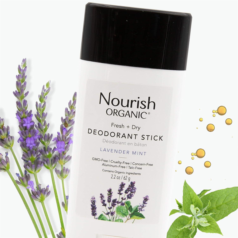 Nourish Organic | Lavender Mint Deodorant | GMO-Free, Cruelty Free, 100% Vegan (2.2oz)