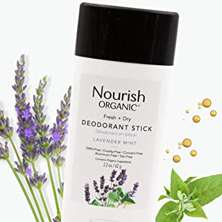 product image for Nourish Organic | Lavender Mint Deodorant | GMO-Free, Cruelty Free, 100% Vegan (2.2oz)