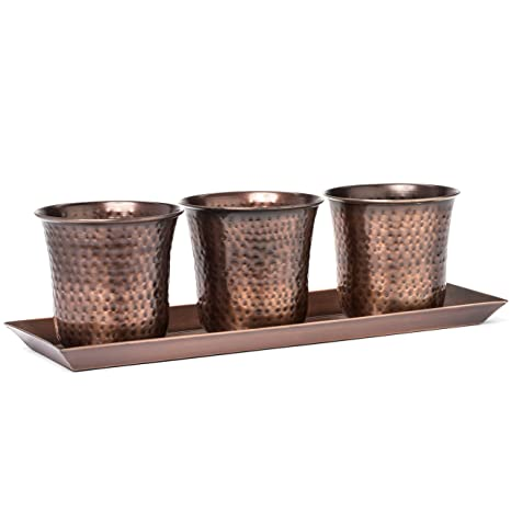 H Potter Succulent Herb Flower Garden Window Box Planter Pots Indoor  Outdoor Antique Copper