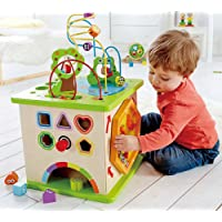 Hape Country Critters Wooden Activity Play Cube for Toddlers