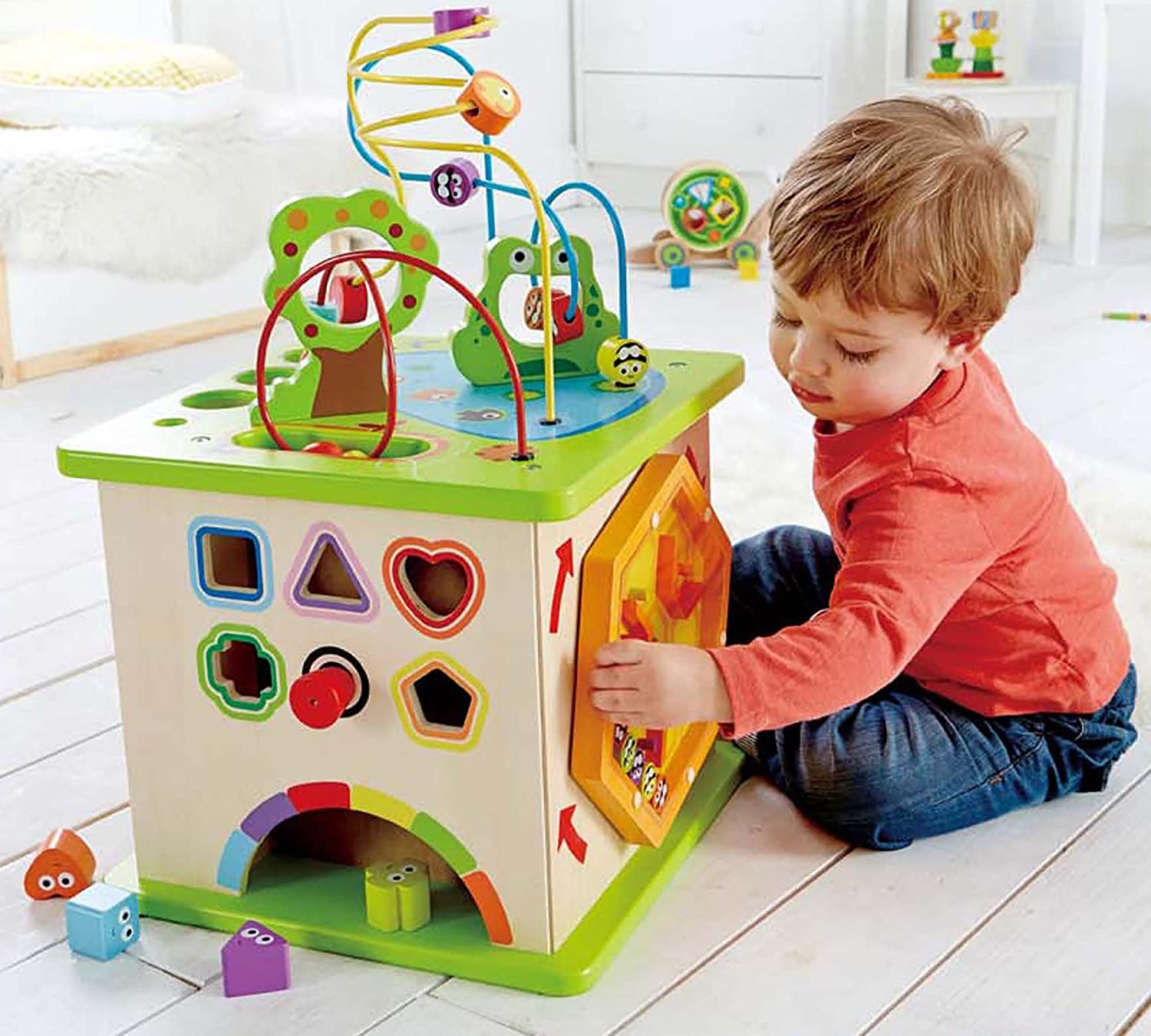 Hape Country Critters Wooden Activity Toddler Play Cube Wood