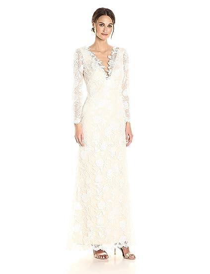 Tadashi Shoji Wedding.Tadashi Shoji Women S Long Sleeve Lace Bridal Gown At Amazon