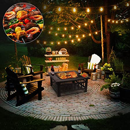 Amazon Com Femor 32 Fire Pit Table Outdoor Multifunctional