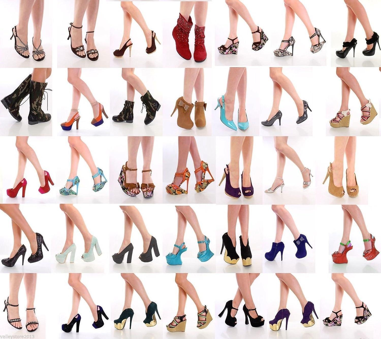 400 Pairs Lot WHOLESALE Womens Shoes High Heels Platform Wedge Pumps sandals