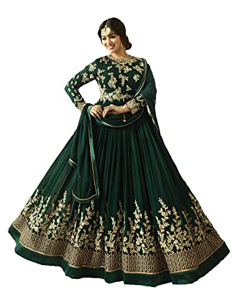 40826780dcdb Image Unavailable. Image not available for. Color  Latest Bollywood Designer  Ready to Wear Ethnic Anarkali Dresses for Women ...