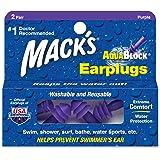 (Purple, 4 Pair Standard) - Macks Aqua Block Ear Plugs