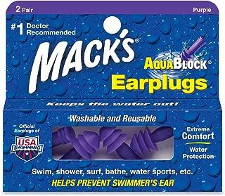 product image for Macks Soft Flanged Aqua Block Earplug, Purple , Standard 8 Pair