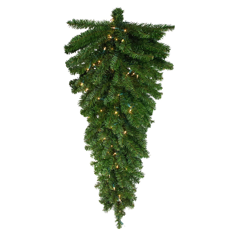 Northlight Wreaths Garland,Swags, Pre Lit Teardrops, Green 32913302