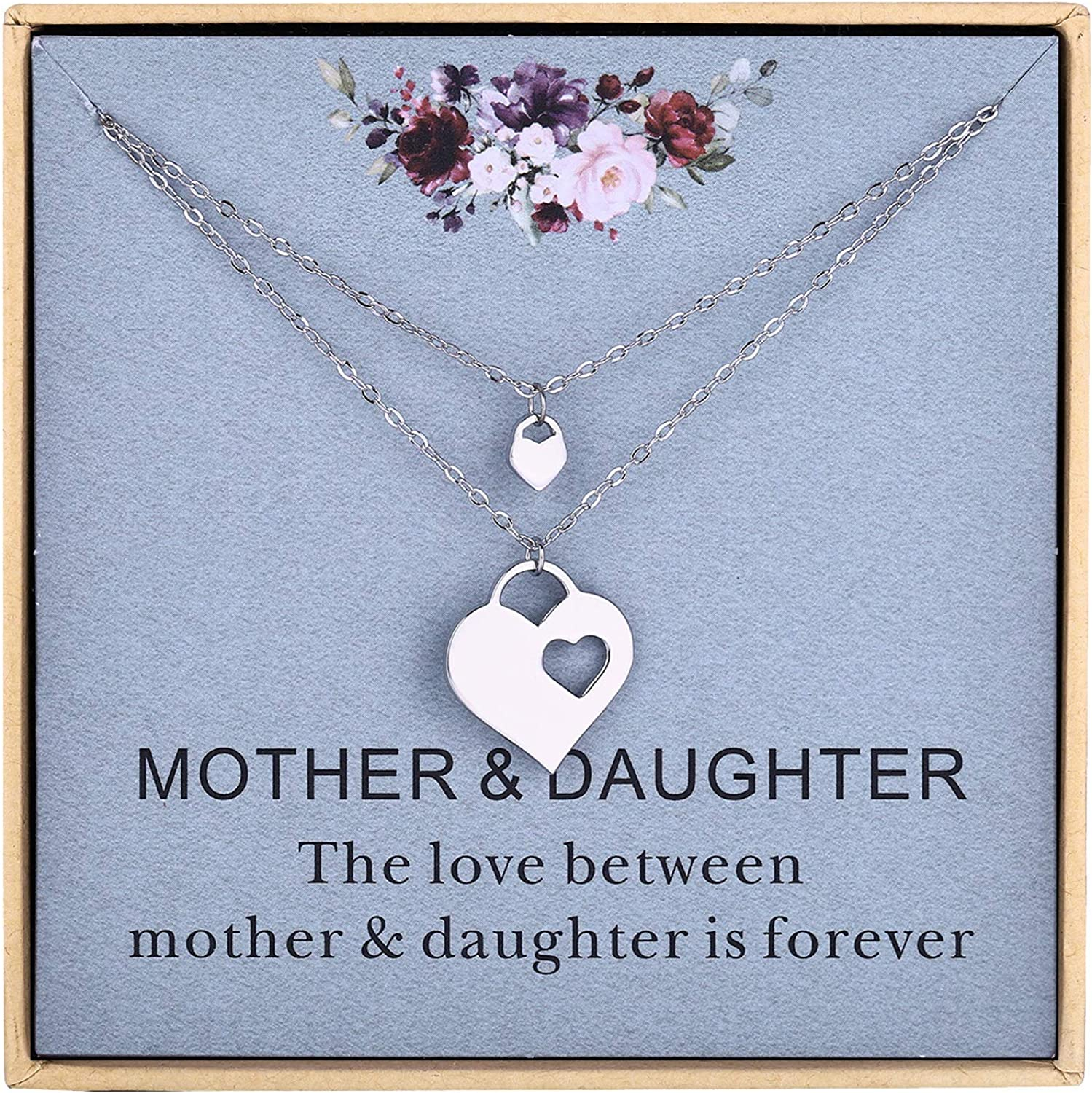 Mothers Day Gifts,Mother Daughter Necklace Set   Mom and Daughter Jewelry    Gift for Mom   Mother Daughter Jewelry Sets for Two   Mommy and Me ...
