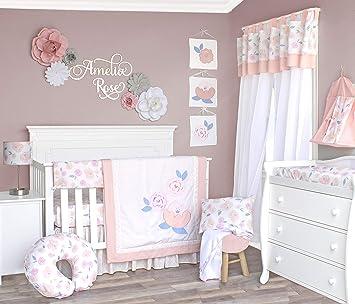 10 Piece Sunshine Pam Grace Creations Crib Bedding Set