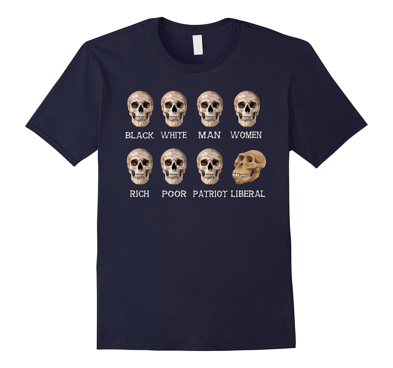 8 Skulls of Modern America Funny T Shirt-TD