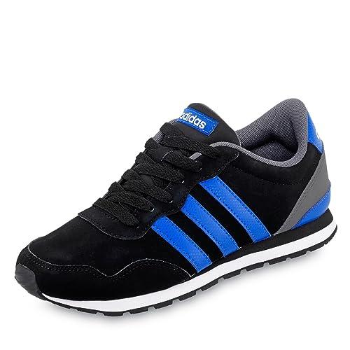 adidas V Jog K, Zapatillas de Deporte Unisex niños, Negro (NegbasAzulFtwbla), 38 EU