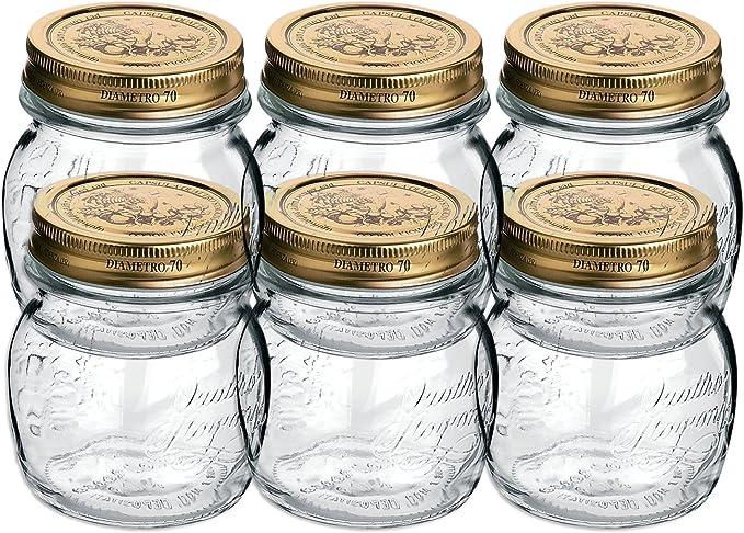 Gift Boxed Bormioli Rocco Quattro Stagioni 4-Piece Canning Jar Set