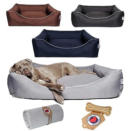 Cama para perros de Tante Hilde, con manta, lavable, resistente y estable,
