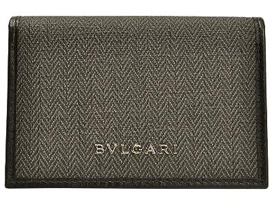 e35c88dc7cc4 (ブルガリ) BVLGARI 名刺入れ カードケース ダークグレー PVC レザー 32588 ブランド メンズ アウトレット 並行