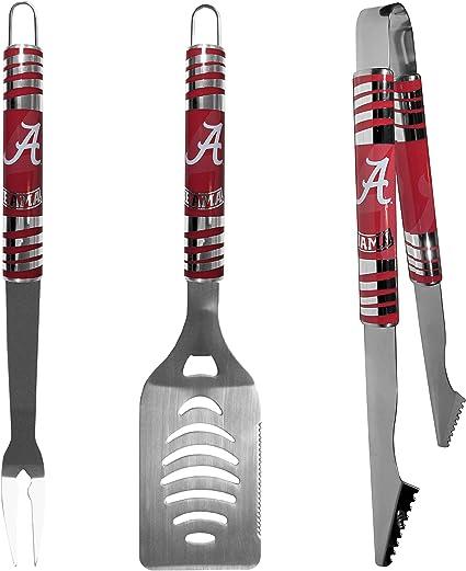 Siskiyou NCAA Fan Shop Steel Tailgater BBQ Set w//Case