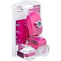 Webcam Facebook Com Microfone Usb Rosa - Wc048 - Multilaser