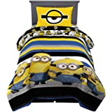 Franco 6A3058 Kids Bedding Super Soft Comforter and Sheet Set, 4 Piece Twin Size, Despicable Me Minions