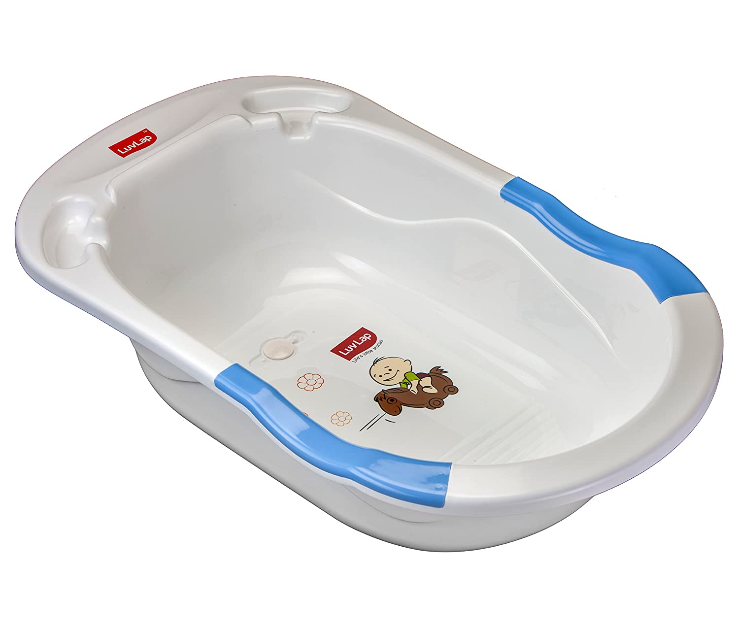 Buy Luvlap Baby Bubble Bathtub with Anti Slip (Blue) Online at Low ...