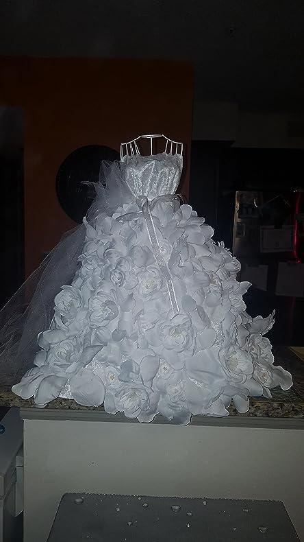 Amazon.com : Wire form bridal wedding dress centerpiece table decor ...