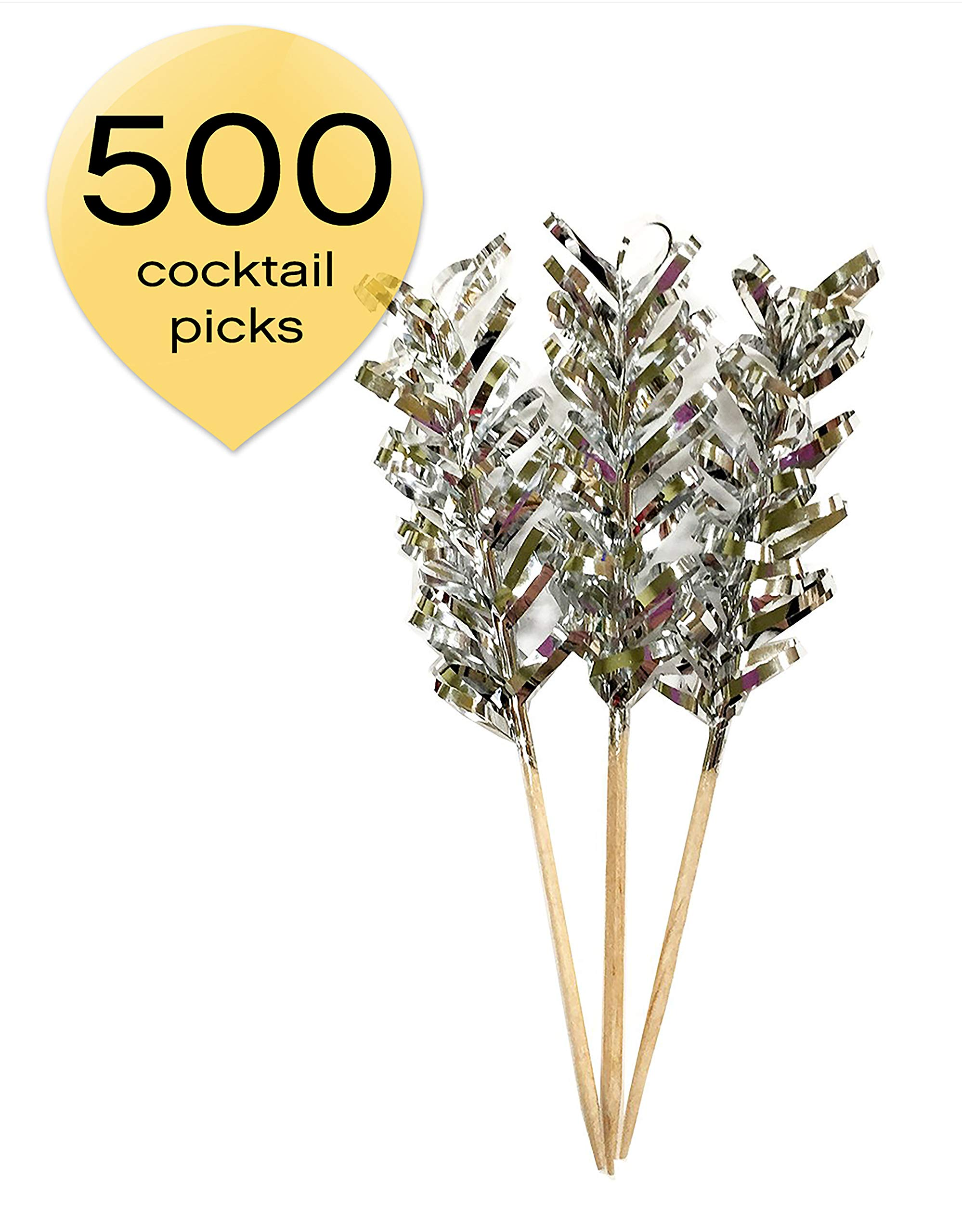 Simply Baked FTP-103C Cocktail Pick, 500 Pack, Silver