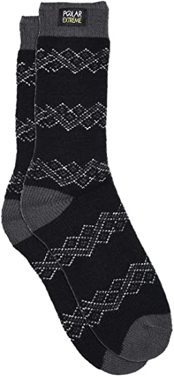 b29d8c309 Women's Polar Extreme Fair Isle Pattern Insulated Thermal Socks 12 Great  Styles (Ribbon Black Gray