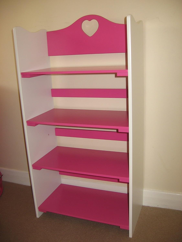 childrens s bookcase pink kidkraft white bookshelf children sling wooden resource itm organizer
