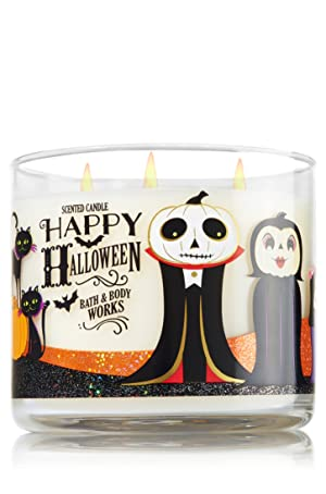 Bath & Body Works 3-Wick Candle Happy Halloween 2016- Sweet Cinnamon Pumpkin