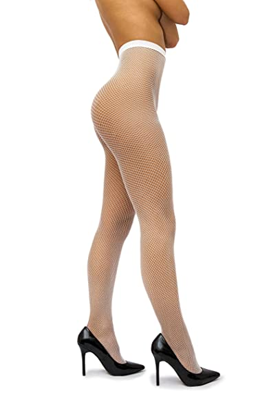 3945b374916 sofsy Fishnet Pantyhose Net Tights Nylon Stockings Lingerie  Made In Italy   White 1