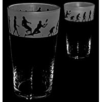 RUGBY EVOLUTION GIFT ~ Boxed PINT BEER GLASS
