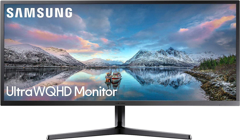 Samsung LS34J550WQU, Monitor, 3440 x 1440 Pixeles, 4K Ultra HD, LED, 4 ms, HDMI, 34.1