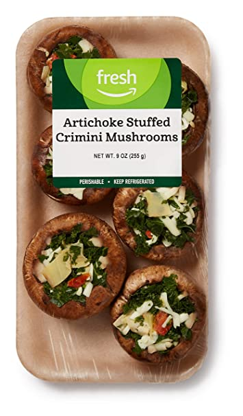 Fresh Brand – Artichoke Stuffed Crimini Mushrooms, 9 oz