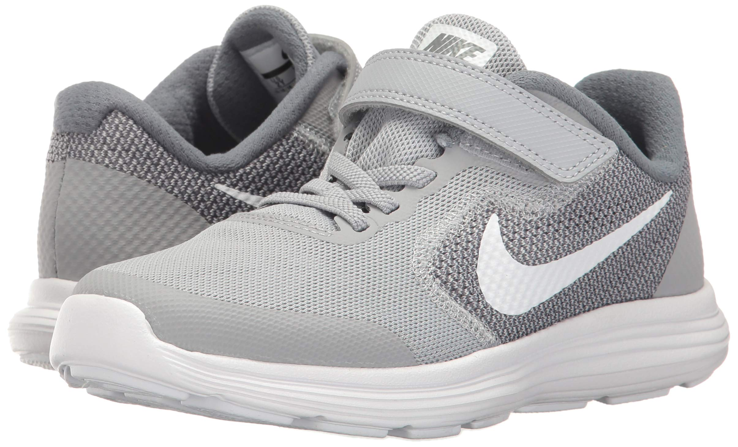 NIKE Kids' Revolution 3 (Psv) Running-Shoes, Wolf Grey/White/Cool Grey, 1 M US Little Kid by Nike (Image #5)
