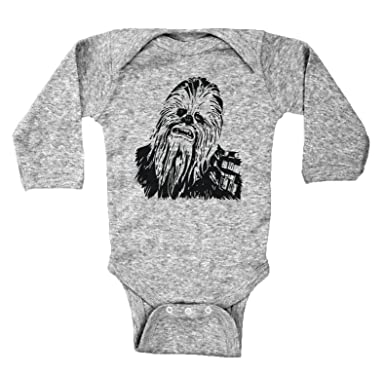 28c343928 Amazon.com: Baffle Star Wars Inspired Baby Bodysuit/Chewbacca/Unisex Baby  Onesie: Clothing