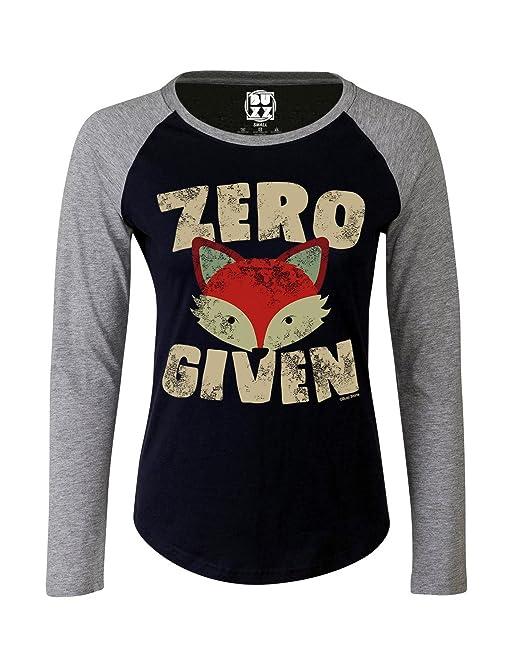 Buzz Shirts Mujer Raglan Baseball Camiseta Zero Fox Given Funny señoras: Amazon.es: Ropa y accesorios