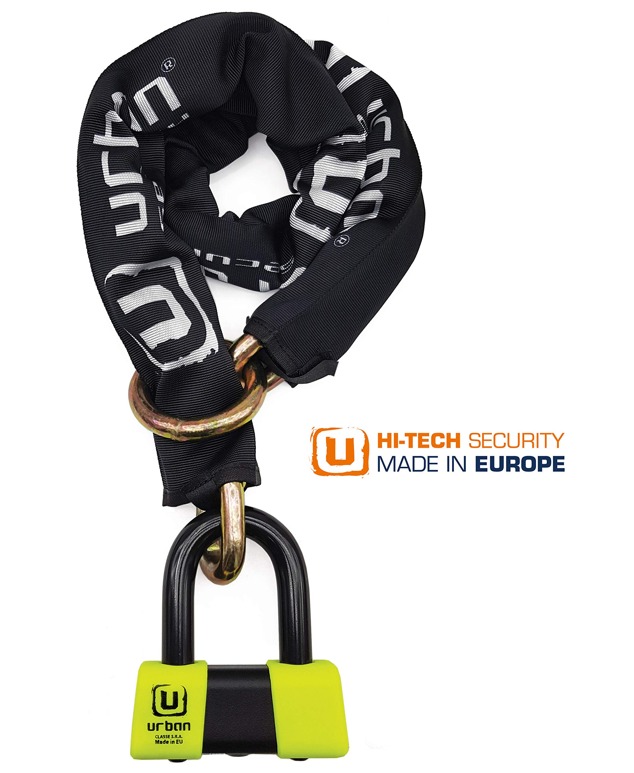 Urban Security UR73120L High Security Anti-Theft Chain Approved SRA, Ø13.5, 120cm, Made in EU
