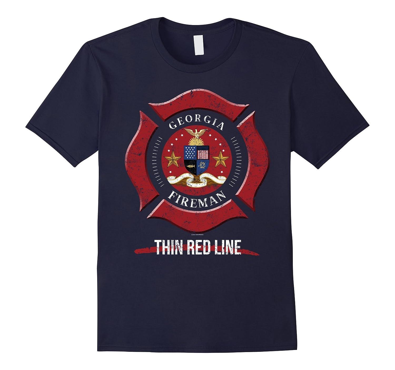 Georgia Firefighter Shirt Firefighter Gift-Art