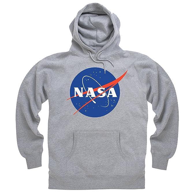 Official NASA White Logo Sudadera con Capucha, para Hombre: Amazon.es: Ropa y accesorios