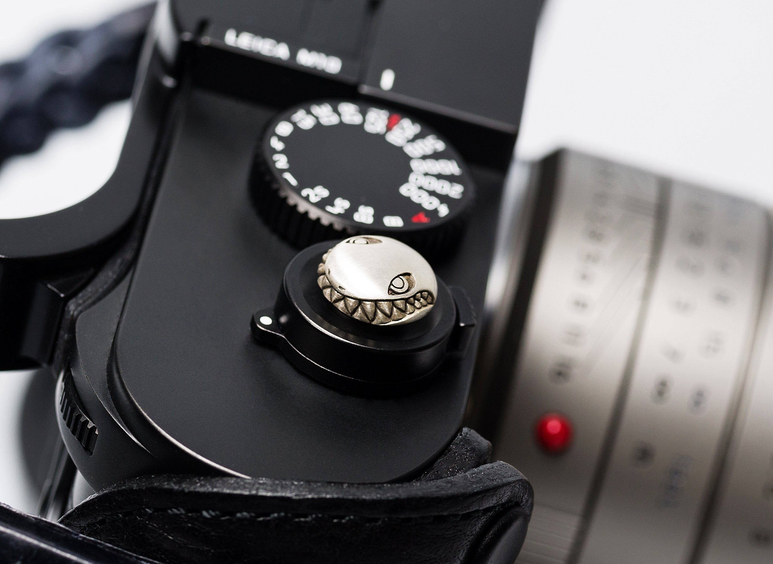 Soft Shutter Release Button Tiger Shark Sterling Silver Handcrafted by Jay Tsujimara fits Leica M240 variants and M10 by Jay Tsujimura