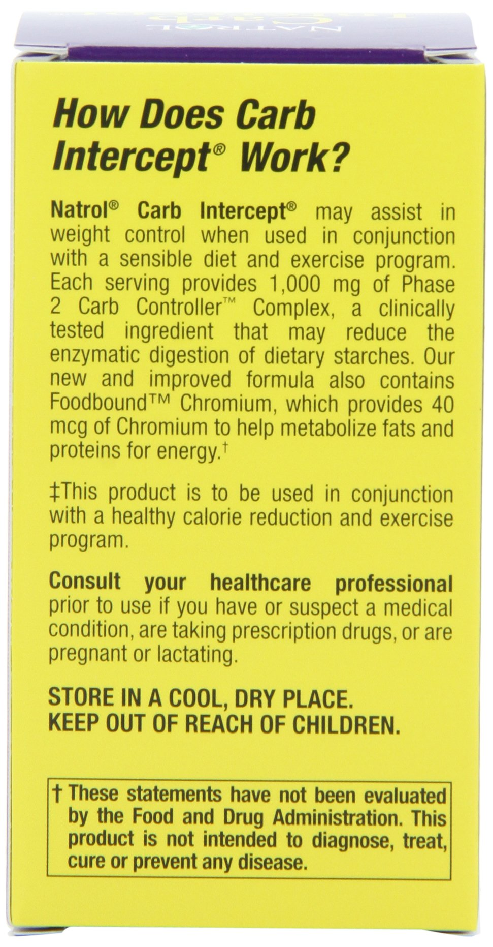 Natrol Carb Intercept with Phase 2 Starch Neutralizer, 30 Capsules (Pack of 3) by Natrol (Image #4)