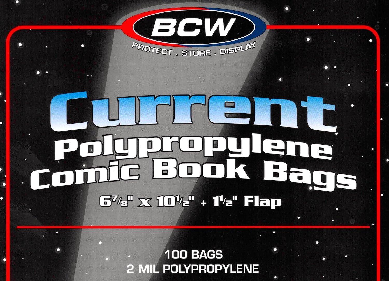 100 BCW現在コミックブックバッグとボード3 - Pack