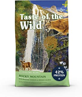 product image for Taste of the Wild High Protein Real Meat Recipes Premium Dry Cat Food with Superfoods and Nutrients Like Probiotics, Vitamins and Antioxidants for Adult Cats and Kittens