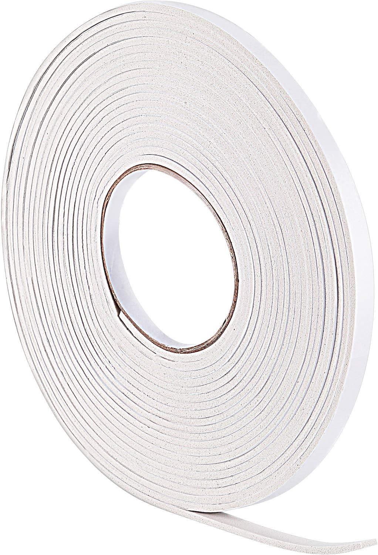10 m de Burletes de Espuma Cinta de Sellador para Sellado de Puerta Ventana (3 mm, Blanco)