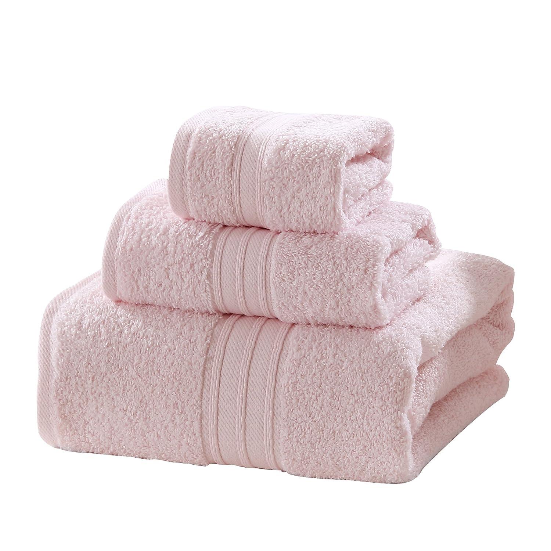 0346ee48478f Amazon.com: LOVO Egyptian Cotton Towel Set 3 Pieces Bath Hand Face  Washcloth Luxury Microfiber Premium Soft Towel, Pale Pink: Home & Kitchen