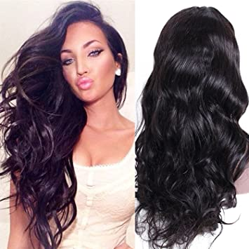 33ba65523 Premier Wig Body Wave Lace Front Wigs Glueless Brazilian Remy Human Hair  Natural Deep Body Wave