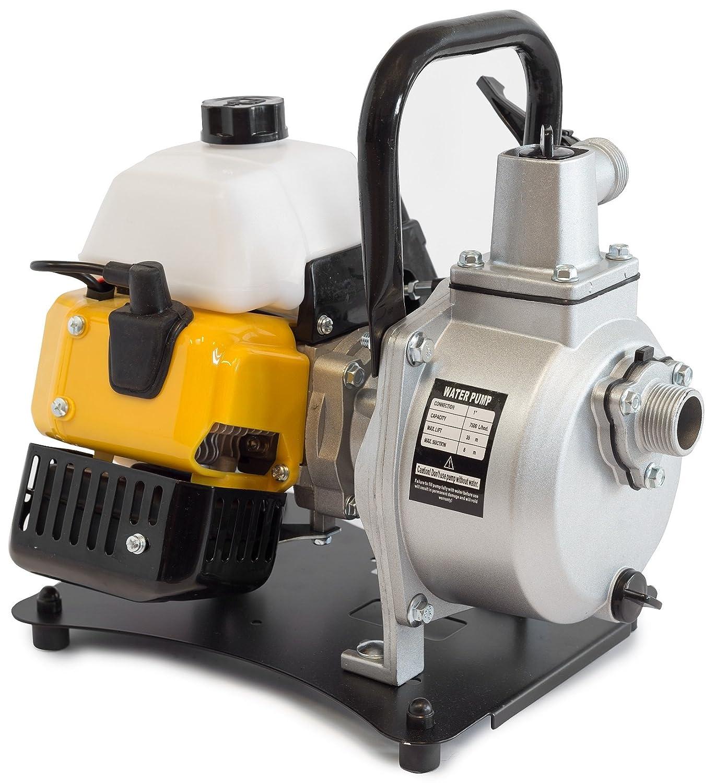 ✦ WASPPER PC108 ✦ Bomba de Agua De Uso Rudo & Portable con Tasa de Flujo de 8000 l/hr ✦ Elevació n de Agua de 38m ✦ 10000 RPM Motor de Petró leo y Accesorios incluidos